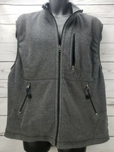 Gap Men's Size XL Full Zip Gray Sleeveless Fleece Vest - $11.35
