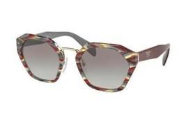 PRADA Sunglasses SPR16R VAP-0A7 56-19-135 Sheaves Bordeaux Green - $138.59
