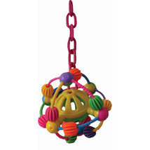 A&E Cage Assorted Happy Beaks Space Ball On A Chain Bird Toy 7x14 In - $36.59 CAD