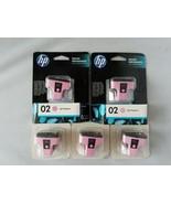 Hp 02 Lumière Cartouche D'Encre Magenta Pack de 5 Imprimante Jet Véritab... - $30.09