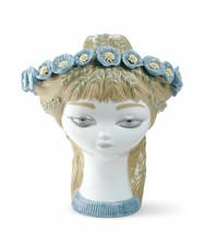 Lladro Porcelain Retired 01007287 Bucolic head (color) Limited Ed. New Box 7287 - $1,382.35