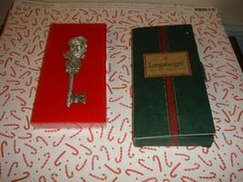 Longaberger Pewter Santa Key 2001 In Box - $19.99