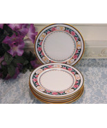 Vintage Royal Doulton China Pink Mustard Colored Flowers Bread Dessert P... - $24.99
