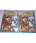 Christopher Columbus Coloring Book Activity Golden 1992 lot of 2 New old... - $12.19