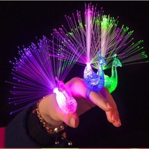Glowing Finger Light Gift Toys 10pcs Open Screen Fiber Optic For Party S... - $14.99