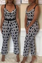 Stylish Halter Neck Printed Patchwork One-piece Jumpsuit - $26.68