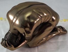 Studio Collection Nude Crouching Male Figurine Bronze Finish Veronese in... - $29.99