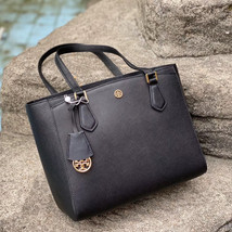 Tory Burch Robinson Small Triple-Compartment Tote - $253.00