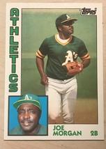 1984 Topps Traded 82T Tiffany - Joe Morgan Baseball Card - $4.90