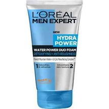 L'oreal Men Expert Hydra Power Water Power Duo Foam Cleanser 100ml - $11.38