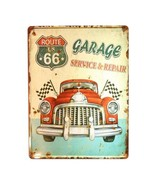 Europe Vintage Iron Car Plate Wall Hanging Decoration T17 - $27.56
