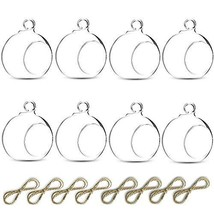 Sfeexun Package Improved Hanging Glass Tealight Holder Globe Plant Terra... - $17.19