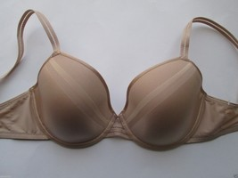 Chantelle 2122 'Vous et Moi' Plunge Underwire Bra Beige, Nude 32DDD MSRP $74 - $33.35