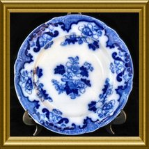 Antique Royal Cauldon Flow Blue Plate in the Candia pattern Circa: 1905 ... - $68.00