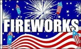 Fireworks Flag 3x5' Concession Flag 4th of July Fireworks Flag New 3x5' - $9.85