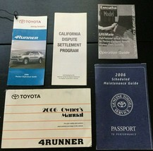 2006 06 Toyota 4Runner Owners Manual Scheduled Maintenance Schedule   - $34.25