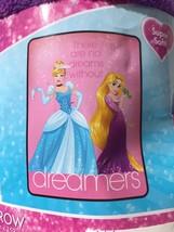 "Disney Princess Dreamers Plush Throw Cinderella Rapunzel 46"" X 60"" - $23.76"