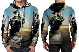 biker wallpapper Hoodie Zipper Fullprint Men - $46.80