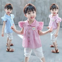 Fashion Summer Baby Girl Clothes Infant Cartoon Pattern T Shirt Shorts 2... - $13.30