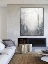 Gray Abstract Large Canvas Oil Painting Art Decor  - $115.69+