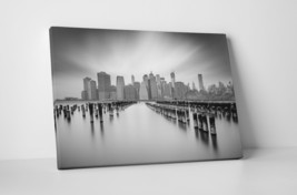 "New York Hudson River Skyline Gallery Wrapped Canvas Print 30""x20"" or 20... - $43.75+"