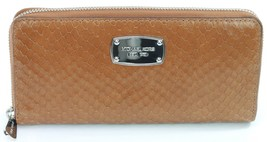 Michael Kors Purse Wallet Brown Soft Python Embossed Leather RRP £140 - $159.27