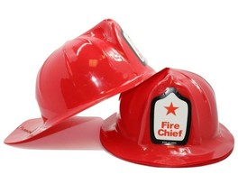 Child Size Fireman Firefighter Fire Chief Hats (12 Pack) Plastic. Kids Size - €8,51 EUR