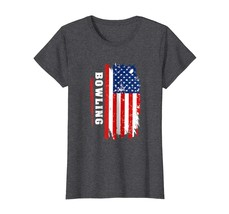 Funny Tee -  Bowling T-Shirt With USA Flag | Patriotic Bowling Sport Tee... - $19.95+