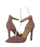 MICHAEL Michael Kors Lisa Pump Ankle Strap Heels 641, Dusty Rose Suede, ... - $34.55