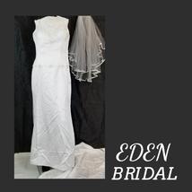 Eden Bridal Gown w/ Train & Vail - $209.00