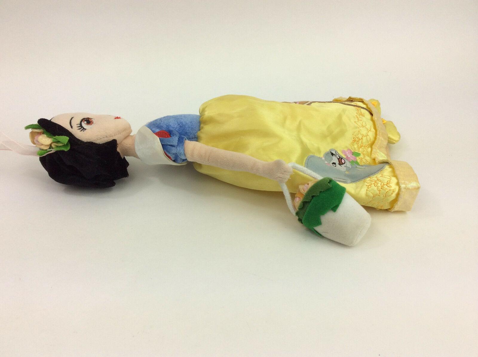 "Disney Doll Spring Fair Snow White Bambi Thumper Princess Plush Reversible 15"""