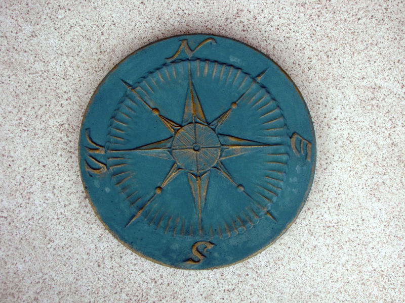 "2+1 Free Compass Stepping Stone Concrete Molds 18""x2"" Make For About $2.00 Each"
