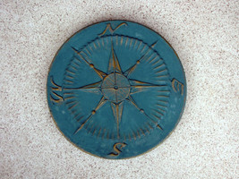 "2+1 Free Compass Stepping Stone Concrete Molds 18""x2"" Make For About $2.00 Each image 1"
