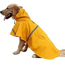 NACOCO Large Dog Raincoat Adjustable Pet Water Proof Clothes Lightweight... - £12.21 GBP