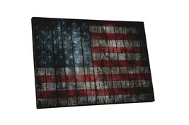 "Vintage USA Flag Gallery Wrapped Canvas, 20"" X 16"" - $42.52"