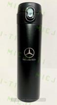 Mercedes Benz Stainless Thermal Mug Push Cap Tumbler Cup Travel 18oz (Black) - $29.99