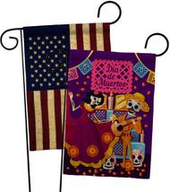 Happy Di de Muertos Burlap - Impressions Decorative USA Vintage Applique Garden  - $34.97