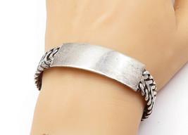 MEXICO 925 Silver - Vintage Smooth Arrow Link Design Bangle Bracelet - B... - $145.07