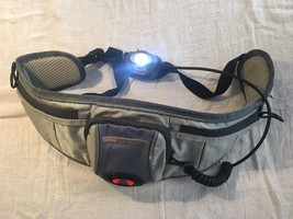 Gomotion Running At Night Lighted Belt Light And Red Flasher W Pockets - £36.04 GBP