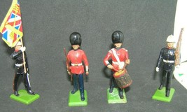 Old ~ 4 Piece Metal Britains Toy Soldier Marching Figures Assorted Lot - $24.75