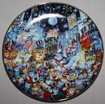 Bill Bell New Years Eve Plate Ring In the New Millennium Franklin Mint RA 8628 - $9.85