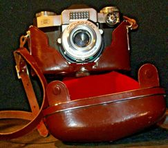 Zeiss Ikon Contaflex Super Camera with hard leather Case AA-192012 Vintage image 6