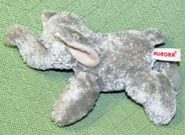 "Aurora World Mini Flopsies 7"" Grey Elephant Raised Trunk B EAN Bag Stuffed Animal - $9.90"