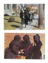 Amish Women in Discussion Amish Mother with Children 2 Lancaster Pa Post... - $4.99