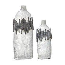 Uttermost 2-Pc Vase Set in Aged Ivory Finish - $301.40