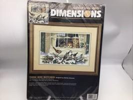 Dimensions Counted Cross Stitch Kit Three Bird Watchers by Martha Edward... - $58.04