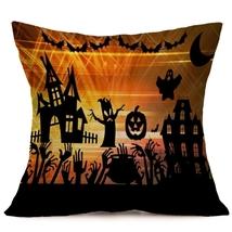 Halloween Decoration Pattern Car Sofa Pillowcase - C - Size:43 x 43 cm - $8.90