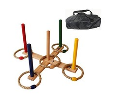 Oojami Ring Toss Game - Children's or Family Outdoor Quoits Game - Compact - $26.51