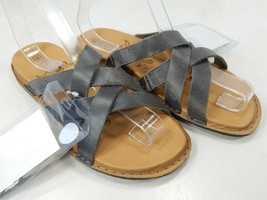 Keen Sofia II Slide Size US 7 M (B) EU 37.5 Women's Leather Casual Sandals Steel - $32.85