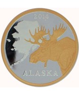 Alaska Mint Official 2014 State Medallion Gold & Silver Medallion Proof ... - $132.65